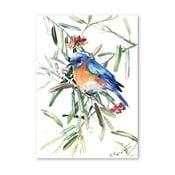 Autorský plakát Blue Bird od Surena Nersisyana, 30x21cm