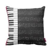 Černobílý polštář Homemania Piano,43x43cm