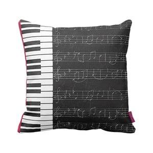 Pernă Homemania Piano,43 x 43 cm, alb-negru