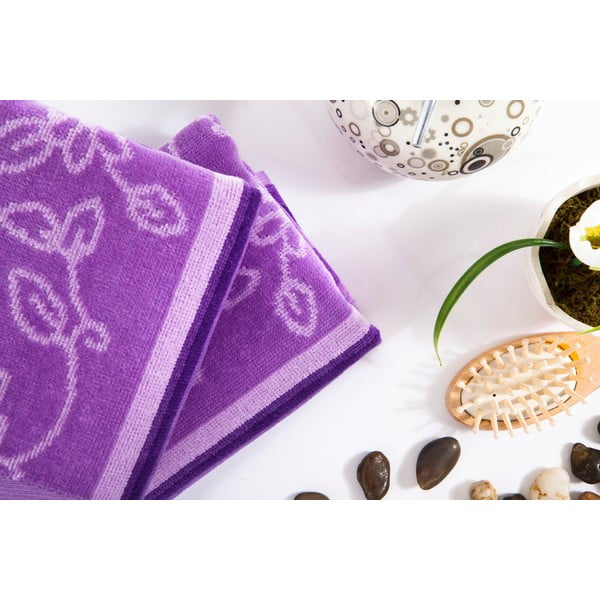 Sada 2 ručníků Samira Lilac, 40x80 cm