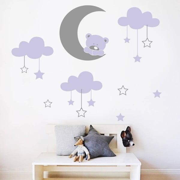 Samolepka na stěnu Medvídek na měsíčku