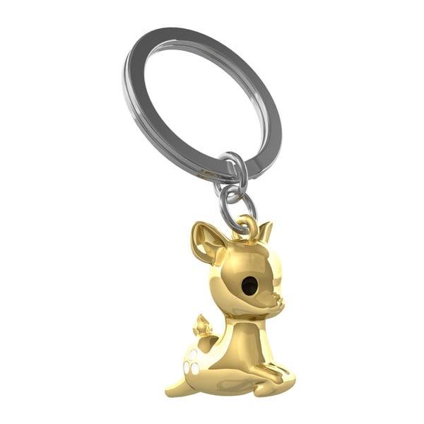Breloczek w złotym kolorze Le Studio Fallowdeer Key Ring