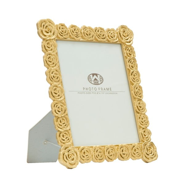 Ramă foto Mauro Ferretti Roses, 20 x 25 cm, auriu