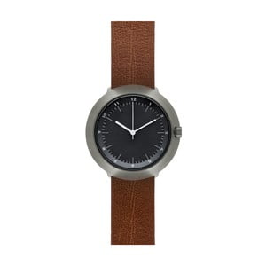 Hodinky Black Fuji Brown Leather, 43 mm