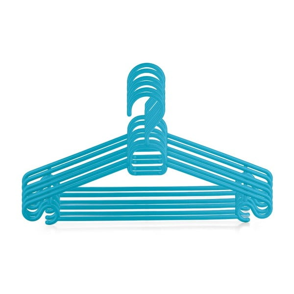 Plastový věšák Bonita CHIC Blue, 6ks