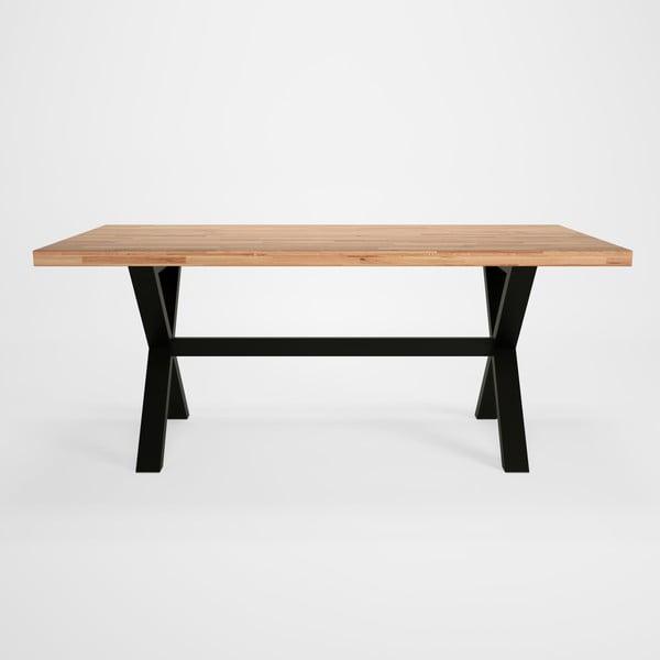Masă cu blat din lemn de stejar Artemob Concepto X, 180 x 90 cm