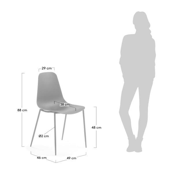 Šedá jídelní židle La Forma Wassu