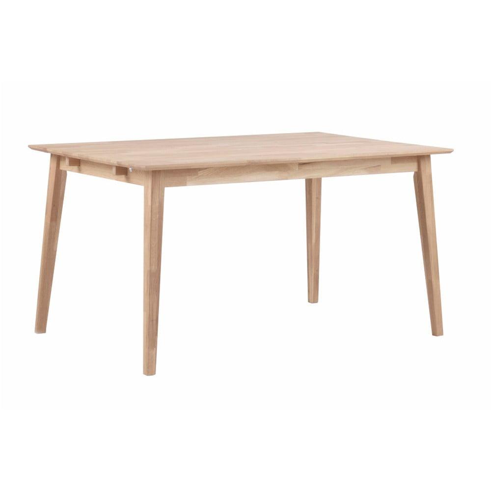 Matně lakovaný dubový jídelní stůl Folke Mimi, délka 140 cm