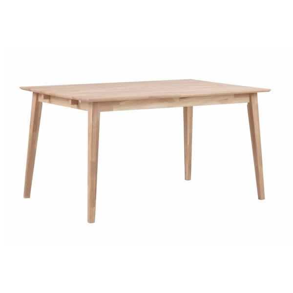 Matně lakovaný dubový jídelní stůl Rowico Mimi, délka 140cm