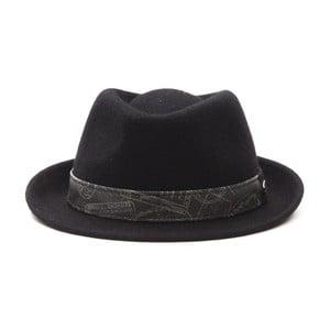 Černý kožený pánský klobouk Alviero Martini Rasto