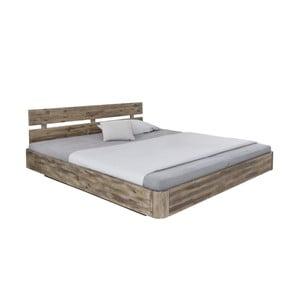 Dvoulůžková postel z akáciového dřeva Woodking Darryl,180x200cm