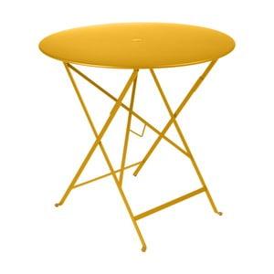 Žlutý zahradní stolek Fermob Bistro, Ø 77 cm