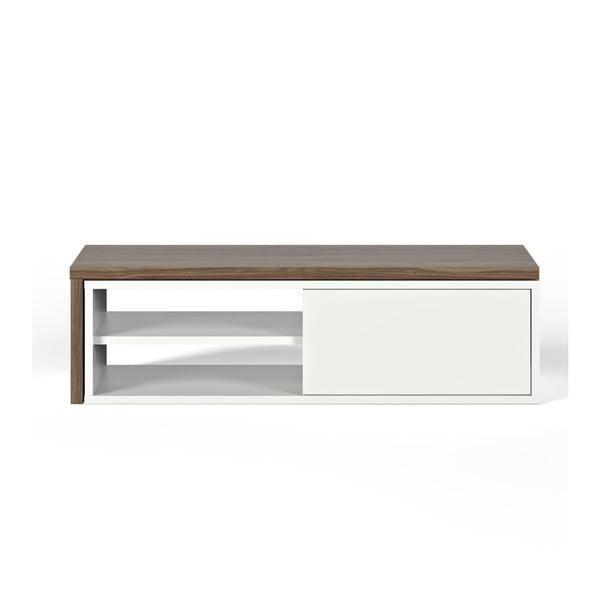 Move fehér TV-állvány, diófa dekor - TemaHome