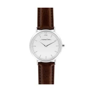 Pánské hodinky s tmavě hnědým páskem Andreas Östen Lenno II