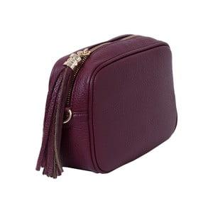 Bordó kabelka z pravé kůže Andrea Cardone