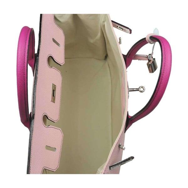 Kožená kabelka Bark Pink & Fushia