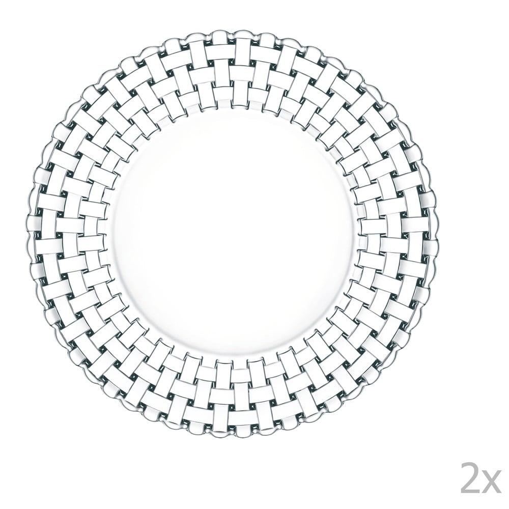 Sada 2 talířů z křišťálového skla Nachtmann Bossa Nova, ⌀ 27 cm