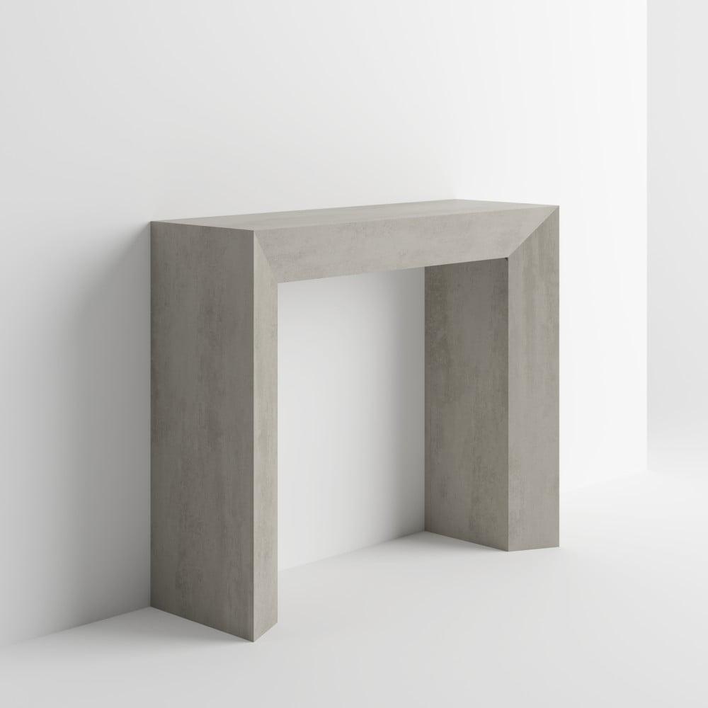Konzolový stolek v dekoru betonu MobiliFiver Giuditta
