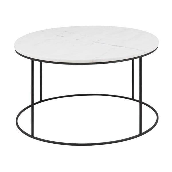 Konferenční stolek s mramorovou deskou Actona Bolton, Ø80cm