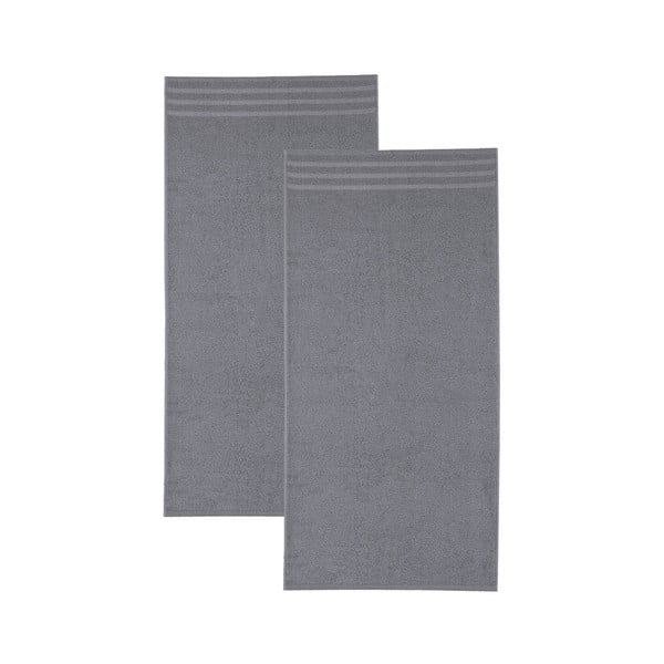 Set tmavě šedých osušek, 30x50 cm, 2 ks