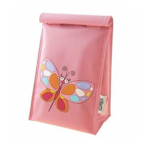Růžový dětský sáček na svačinu Navigate Butterfly