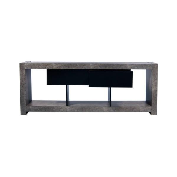 Televizní stůl v betonovém dekoru TemaHome Nara, 174 x 66 cm