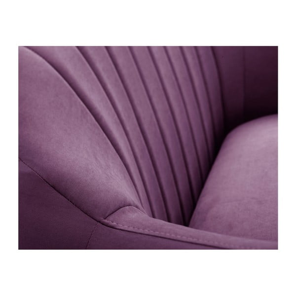 Canapea pe colț Scandi by Stella Cadente Maison Comete, pe partea dreaptă, mov