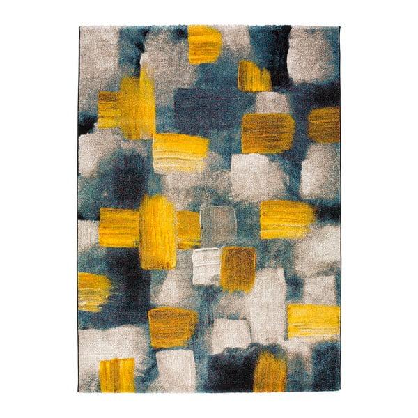 Covor Universal Lienzo, 140 x 200 cm, albastru - galben
