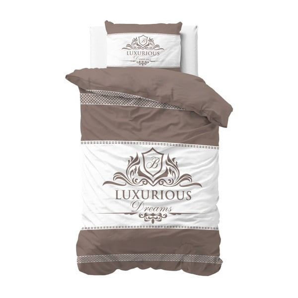 Lenjerie de pat din bumbac Sleeptime Luxurious, 140 x 220 cm