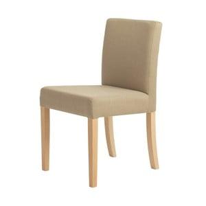 Scaun cu picioare de culoare naturală, Custom Form Wilton, bej