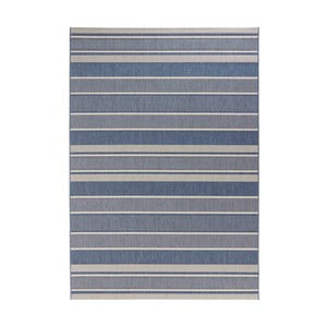 Modrý koberec vhodný do exteriéru Bougari Strap, 120x170cm
