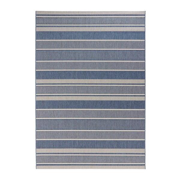 Covor potrivit pentru exterior Bougari Strap, 80 x 150 cm, albastru
