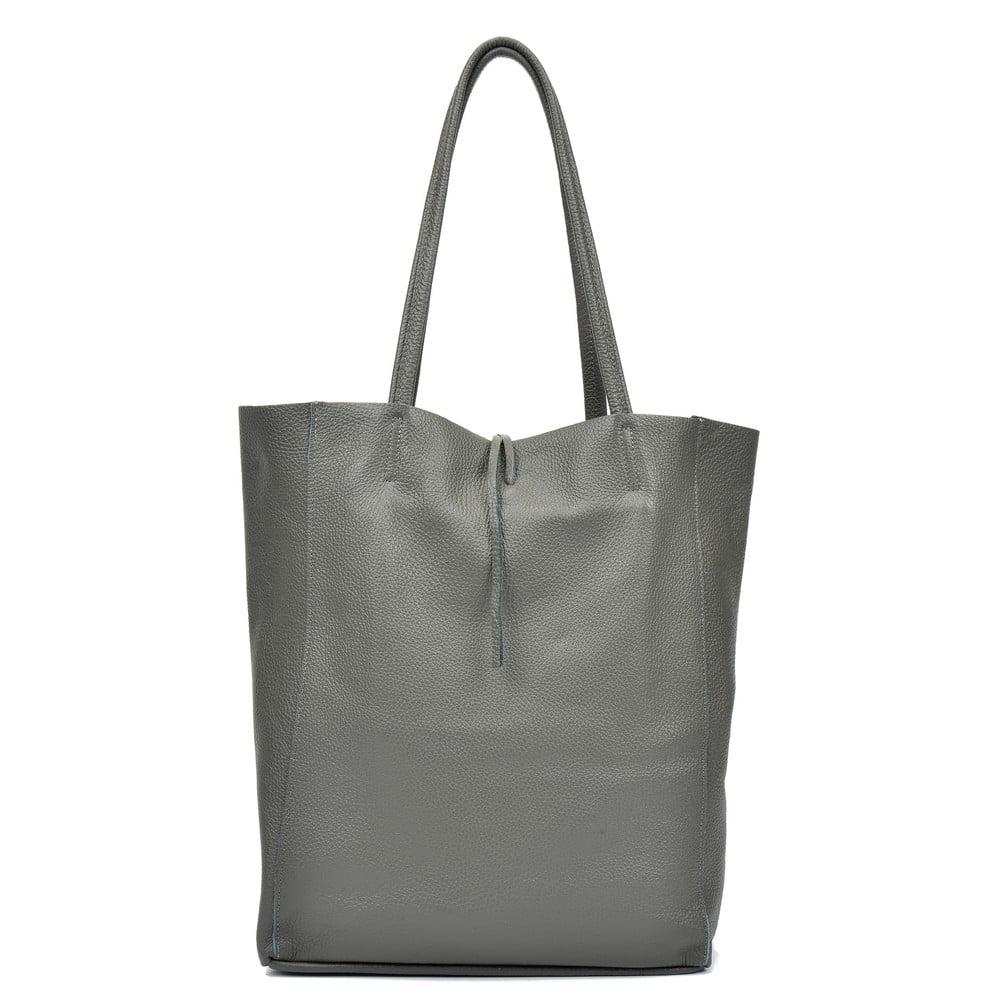Šedá kožená taška přes rameno Sofia Cardoni Easy