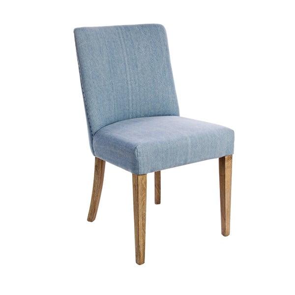 Židle Schienale, modrý potah