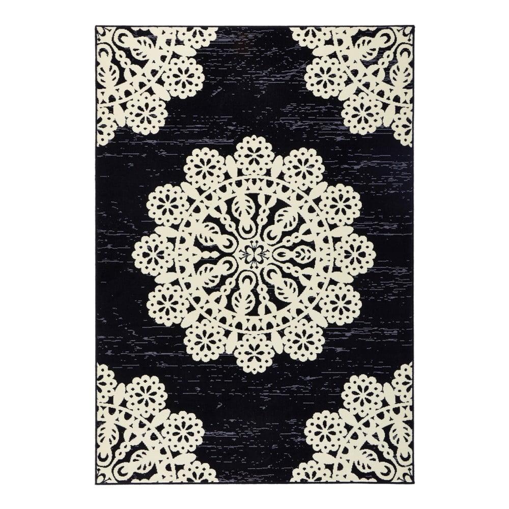 Černý koberec Hanse Home Gloria Lace, 80 x 150 cm