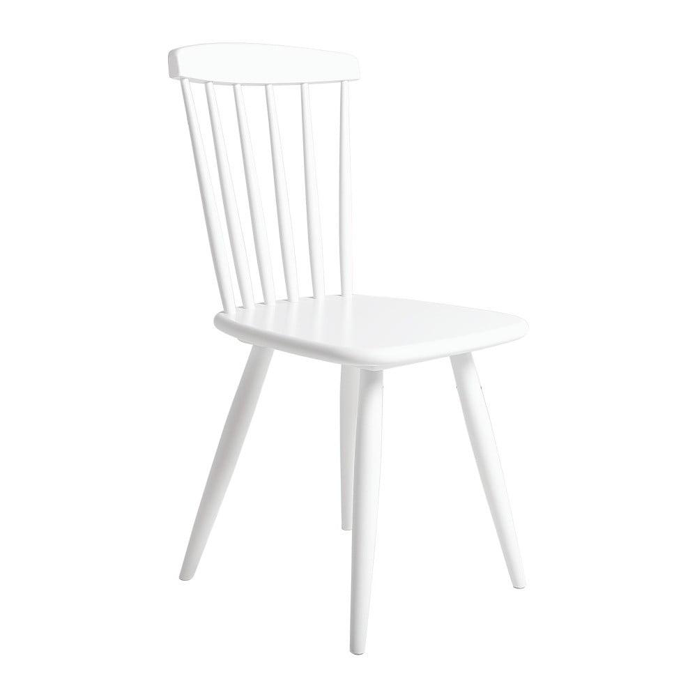 Bílá jídelní židle z borovicového dřeva SOB Irelia