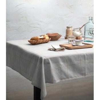 Față de masă Linen Couture Beige Lines, 140 x 140 cm imagine