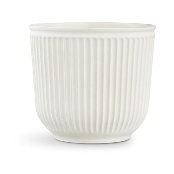 Biely kameninový kvetináč Kähler Design Hammershoi Flowerpot, ⌀ 18 cm