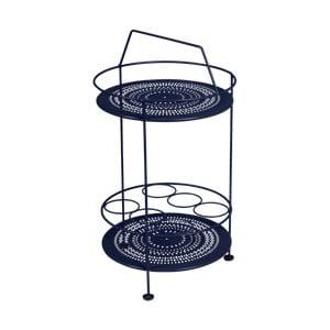 Tmavě modrý zahradní barový stolek Fermob Montmartre, ⌀ 40 cm