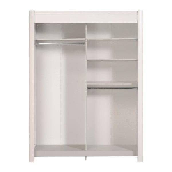 Bílá šatní skříň s posuvnými dveřmi Parisot Adorlée, šířka160cm