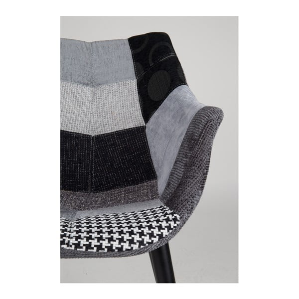 Šedá židle Zuiver Twelve Patchwork
