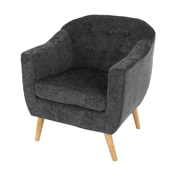 Křeslo Vaasa Relaxing, šedý textilní potah