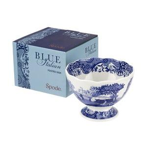 Bílomodrá porcelánová miska na nožce Spode Blue Italian, ø 15 cm