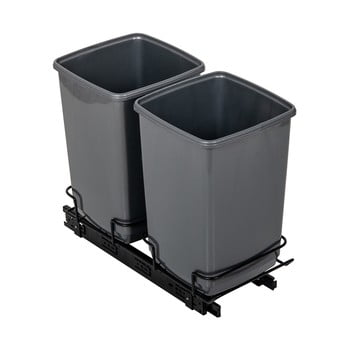 Set 2 coșuri de gunoi Addis In-Cupboard Bin, 10 l, gri imagine
