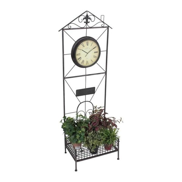 Suport flori pentru grădină cu ceas ADDU