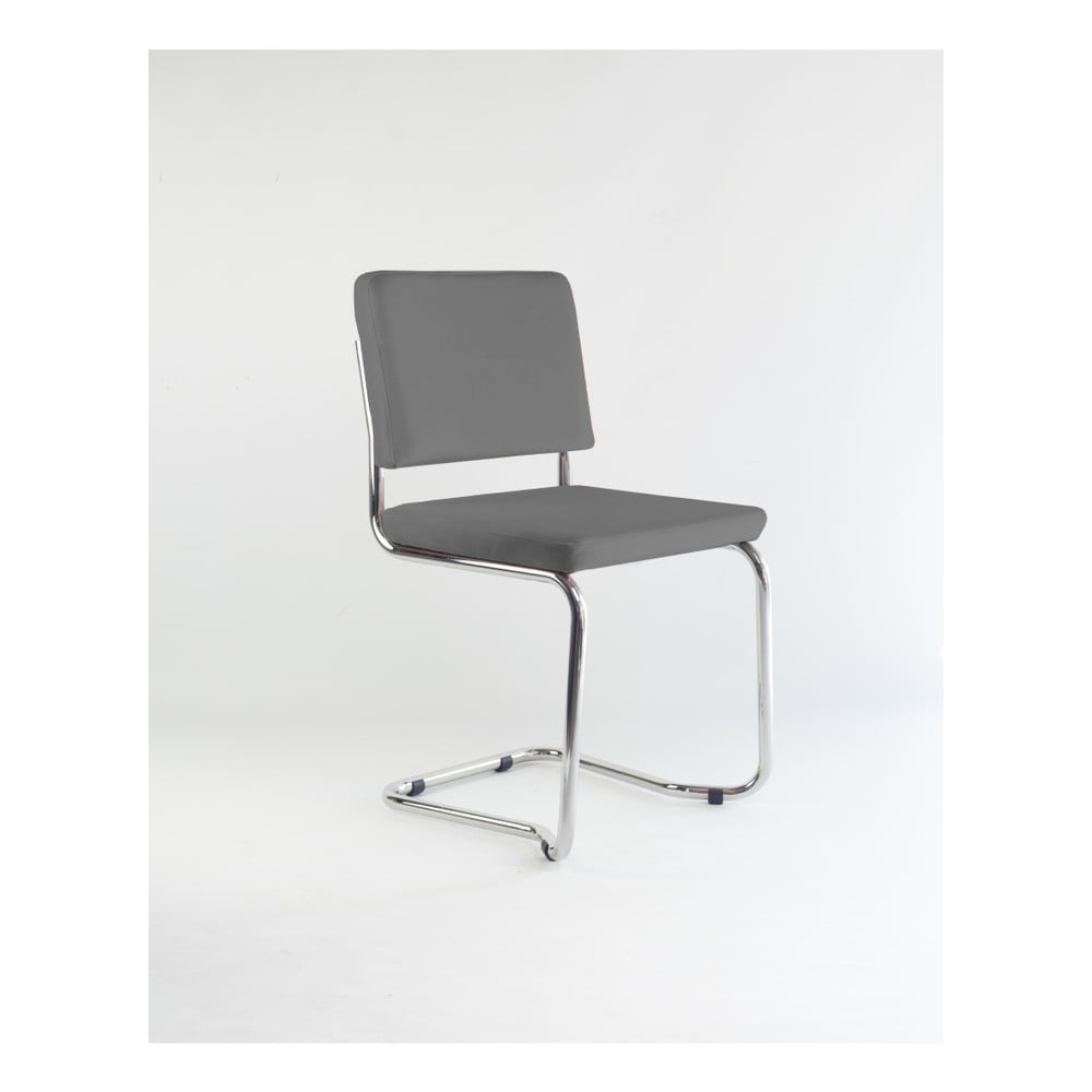 Židle s šedým sametovým potahem Velvet Atelier Bertha