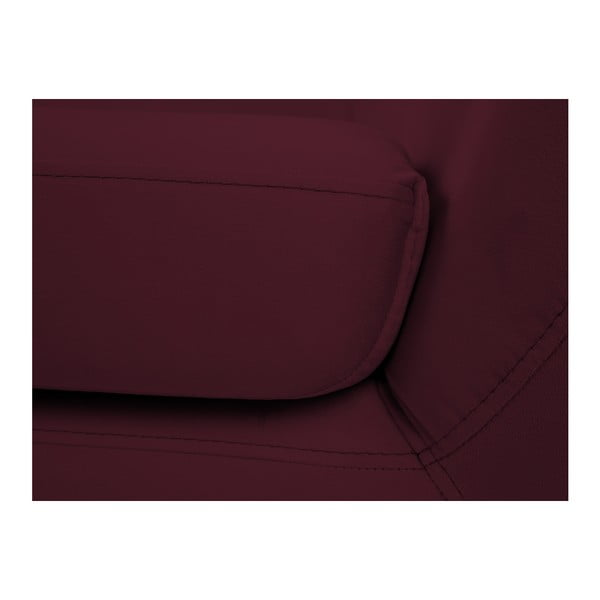 Vínově červená dvoumístná pohovka s černými nohami Mazzini Sofas Benito