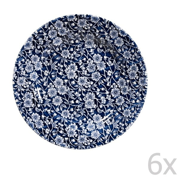 Sada 6 talířů Victorian Calico Mint, 20 cm