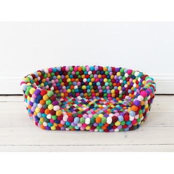 Pat cu bile din lână, pentru animale de companie Wooldot Ball Pet Basket Multi, 60 x 40 cm imagine