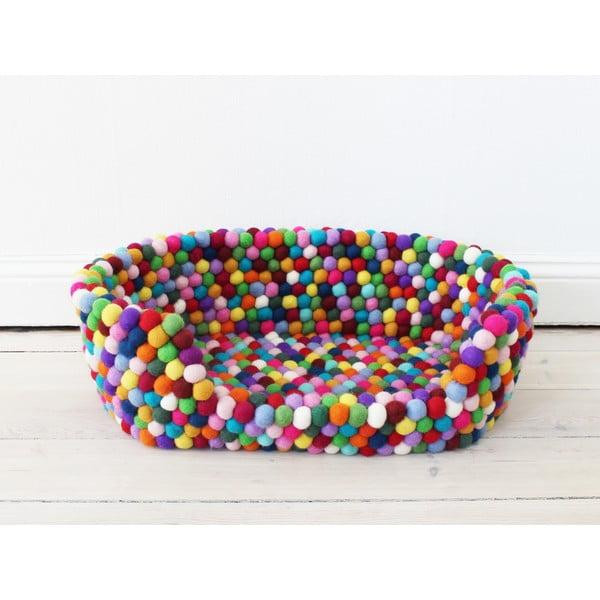 Kuličkový vlněný pelíšek pro domácí zvířata Wooldot Ball Pet Basket Multi, 80 x 60 cm